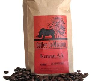 Fresh Ground Coffee & Roasted Coffee Beans 100% Kenyan AA