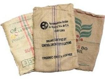 25 Coffee Bean Burlap Bags - Burlap coffee Sack - Coffee sack - organic recycling - sack race - potato sack