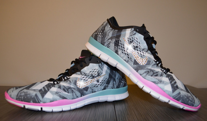 Nike Free Tr Fit 4 Print Training Shoe Black/Ash