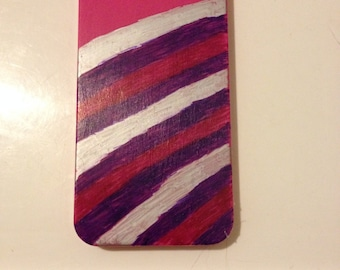 Pink Stripped  iPhone 4/4s Phone Case