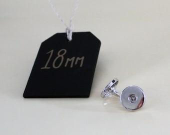 18mm Stud Earring - Interchangeable Snap Jewellery