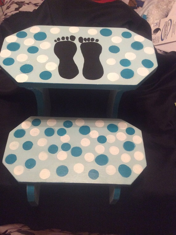Bedside Step Stools For Adults: 2 Step Stool. Use In Kitchenbathbedroom. Handmade By