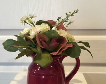 Mini Floral Glass Pitcher Arrangement