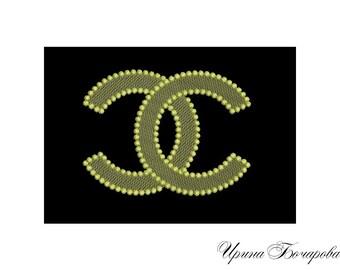 Machine Embroidery Design - Chanel Logo Embroidery Pattern Monochrome Decoration Ornament