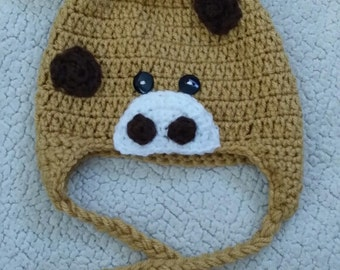 Giraffe Crochet Hat, made to order