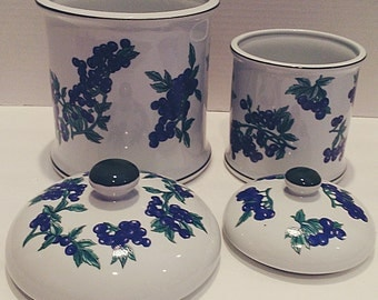 Berry Patch Canisters - New Trends Blueberry  Collection - 2
