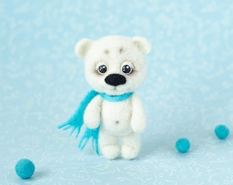 Cute bear brooch Baby bear pin Cute animal brooch Cute pin Handmade felted animal jewelry Teddy brooch Cute gift Christmas gifts for girl