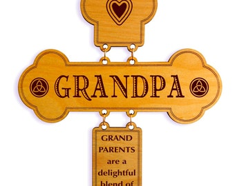 My Awesome Grandpa Gift , Gift for our wonderful Grandpa, Grandpa Appreciation Gift, Grandpa Birthday Gift , Custom Grandpa Wall Cross Sign.
