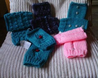 girls finger less gloves