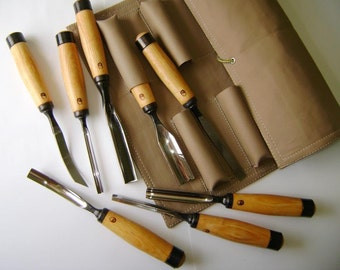 Сarving set reinforced chisels. To work with a mallet. Forged by hand. Woodcarving.