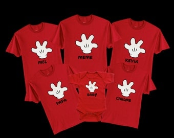 Custom Disney Shirts, Disney Vacations! Mickey hand shirts. Have them on a tank top, shirt or hoodies