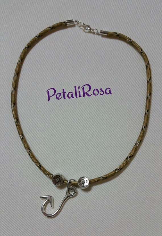necklace lanyard paracord necklace with by petalirosa