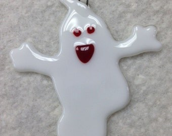 """Ghost Fused Glass Ornament 3.5""""x4"""""""