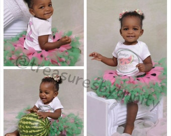 Watermelon Birthday Outfit, Watermelon Tutu Set, One In A Melon, Watermelon Birthday Shirt, Watermelon 1st Birthday, Summer Birthday Outfit
