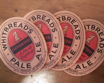 Whitbreads Pale Ale beer coasters bar english  RARE