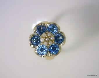 14k London Blue Topaz Vintage Ring