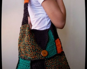 Crochet Bag - Colorful- **U.S. FREE SHIPPING** Bolso Cartera Colorida