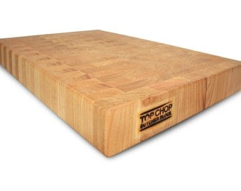 Butcher Block Premium Reversible End Grain Cherry Cutting Board- Cherry Butcher Block