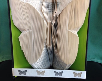 Book folded butterfly Gift or Wedding Centerpiece