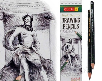 12 Sketching Drawing Pencil with Crystal Graphite Lead in HB 2b 3b 4b 6b 8b