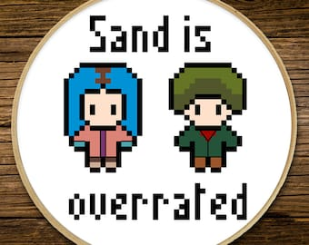 Eternal Sunshine - Sand is Overrated - Cross Stitch (PATTERN ONLY)