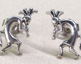 Sterling Silver Kokopelli Studs ( New Lower Price )