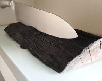 Knife holder bog, Knifeblock bog oak, knife block