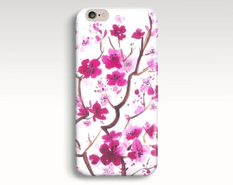iPhone Case, Floral iPhone 6 Case, iPhone 5s Case, Flowers iPhone 5C Case, iPhone 5 Case, iPhone 4s Case, iPhone 6 Plus, Sakura iPhone Cases