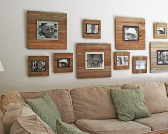 Reclaimed Wood Frame -  Cream backboard with 8 x 10 picture.  (FS-RC4-CRM)