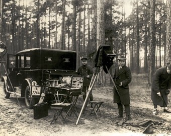 Photo of CSI Forensic crime scene, France, 1920s
