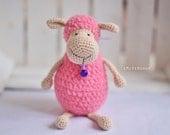 Sheep Amigurumi, Crochet Sheep, Super Soft, Super cute, crochet softie, crochet animal, stuffed toy, holiday gif - Polly the Lamb