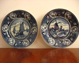 Dutch Societe Ceramique Maestright Porcelain Wall Plates.