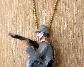 Necklace  century early lear soldier.