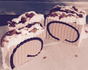 chocolate latte loaf soap slice