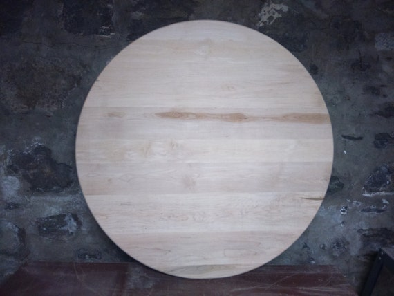 Round Maple Table Wood Table Top Round / Circle