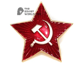 Soviet Red Army Russian Military BIG STAR USSR pin badge