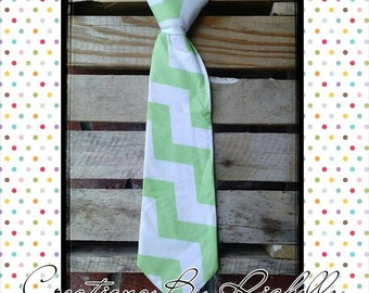 Chevron Neck Ties (Lime)