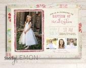 McCall Baptism Invitation, LDS Baptism Announcement, Digital, Printable, Trendy