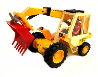 1980s Vintage Britains 9814 JCB Loadall 520 Digger Toy Collectible Made in England