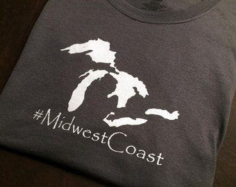 "Michigan ""#MidwestCoast"" Premium T-Shirt"