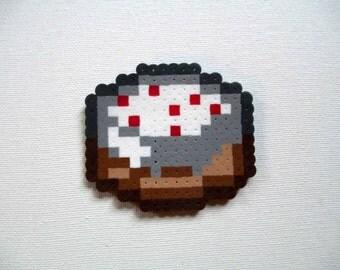 Perler Bead Minecraft Cake