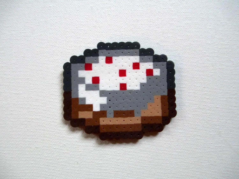 Perler Bead Minecraft Cake by BeadieEadie on Etsy