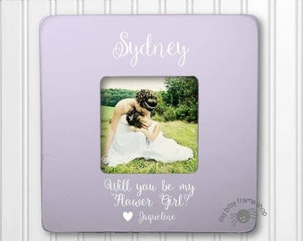 Will You Be My Flower Girl Frame Personalized Frame Wedding Frame IBFS-WED