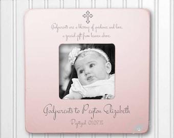 Godparents Gift Godparents Frame Gift for Godparents Baptism Frame Christening Frame IB3FSBAPT
