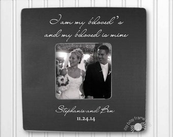 Wedding Frame Wedding Gift Engagement Frame Personalized Frame I Am My Beloved's And My Beloved Is Mine IBFSWED