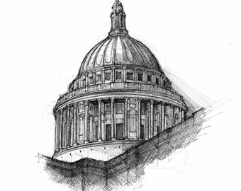 St Paul's Cathedral, London - Limited edition archival print