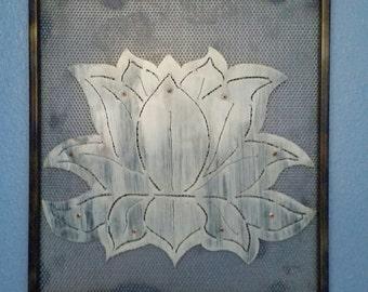 White Lotus Wall Art