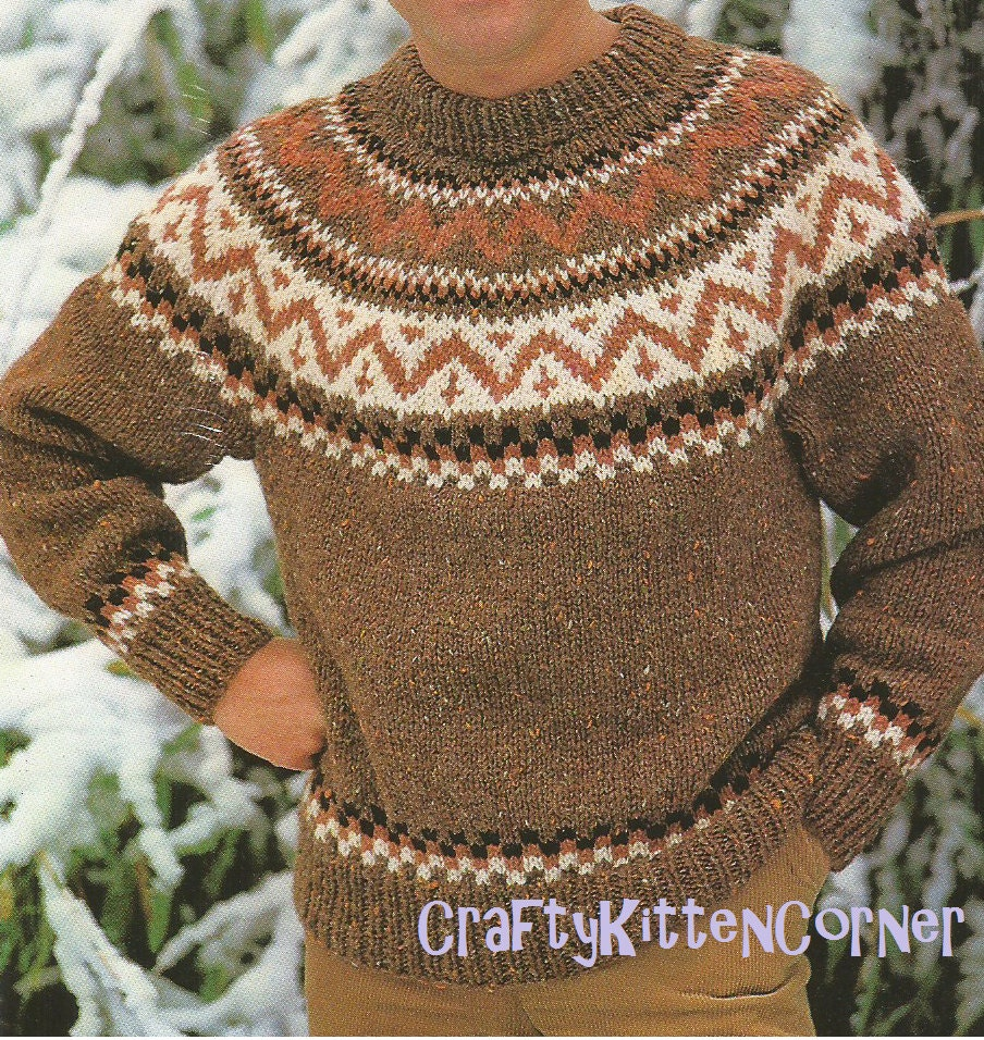 Yoke Nordic Sweater Pattern 27