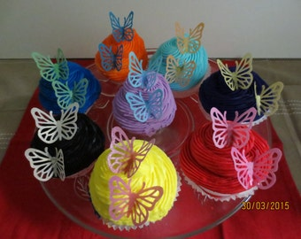 24 x Wafer Paper Butterflies PRECUT
