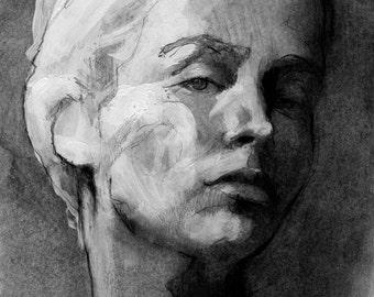 Custom portrait type II: graphite